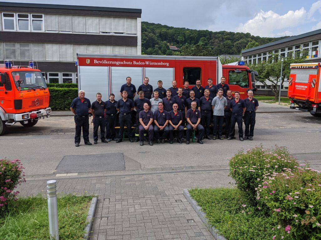 Gruppenbild Hochwasserzug der Feuerwehren des Hohenlohekreises