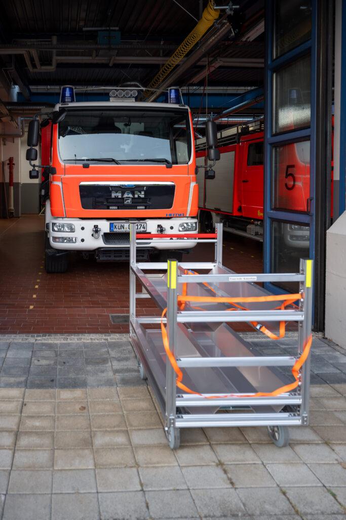 GW-T Rollwagen für den Schlauchtransport